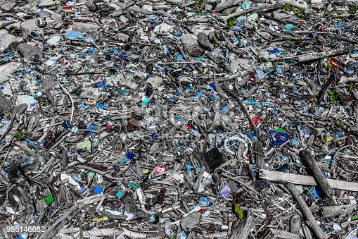 This is garbage at the beautiful beach edge side in Japan.
