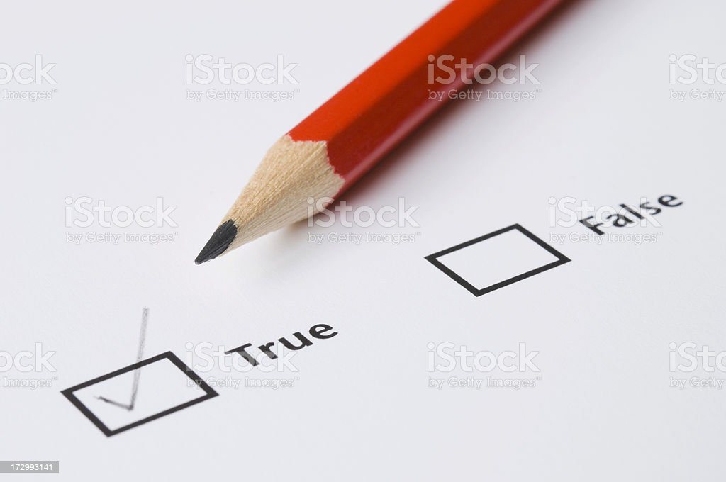 True/False royalty-free stock photo