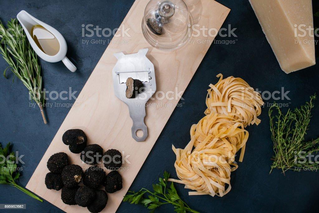 Trüffel-Delikatesse Kochen Restaurant Pasta-Konzept – Foto