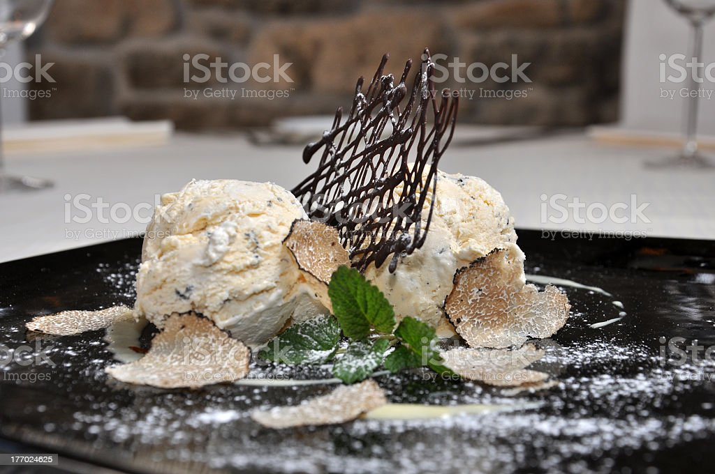 Truffle ice cream stock photo