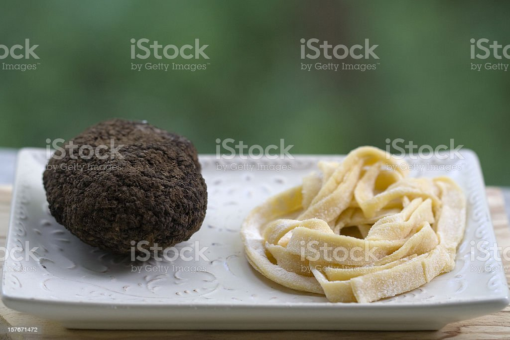 Truffles and Tagliatelle royalty-free stock photo