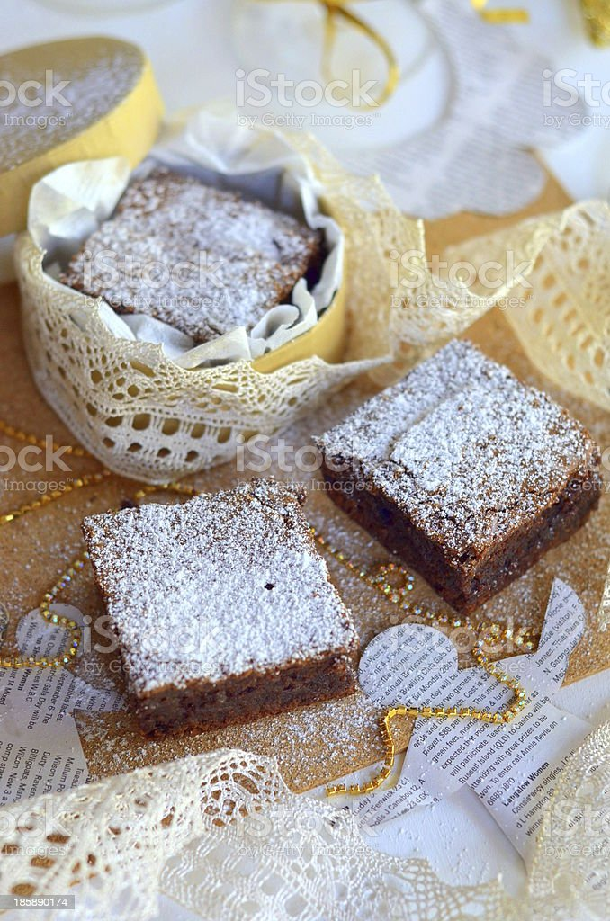 Truffles brownies royalty-free stock photo