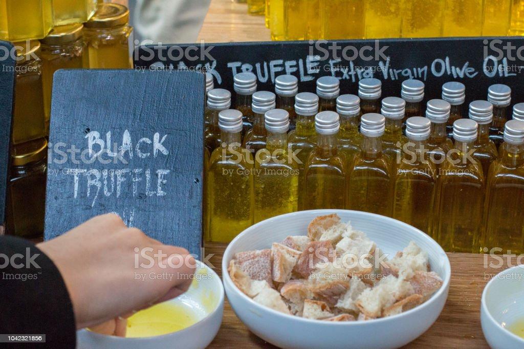 Truffles in Borough Market, London stock photo