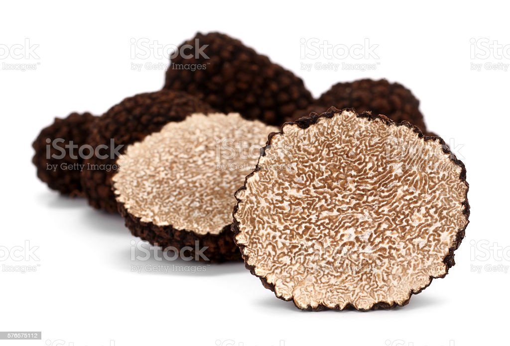 Truffles Tuber melanosporum mushrooms stock photo