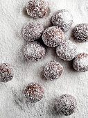 Coconut, Chocolate Truffle, White Background, Meal\nSave,Backgrounds, Baked Pastry Item, Bakery,  Chocolate, Raw Food, Food,coconut truffles