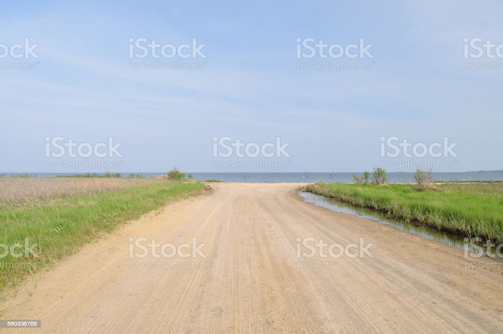 Truitts Landing Boat Launch Beach royalty-free stock photo