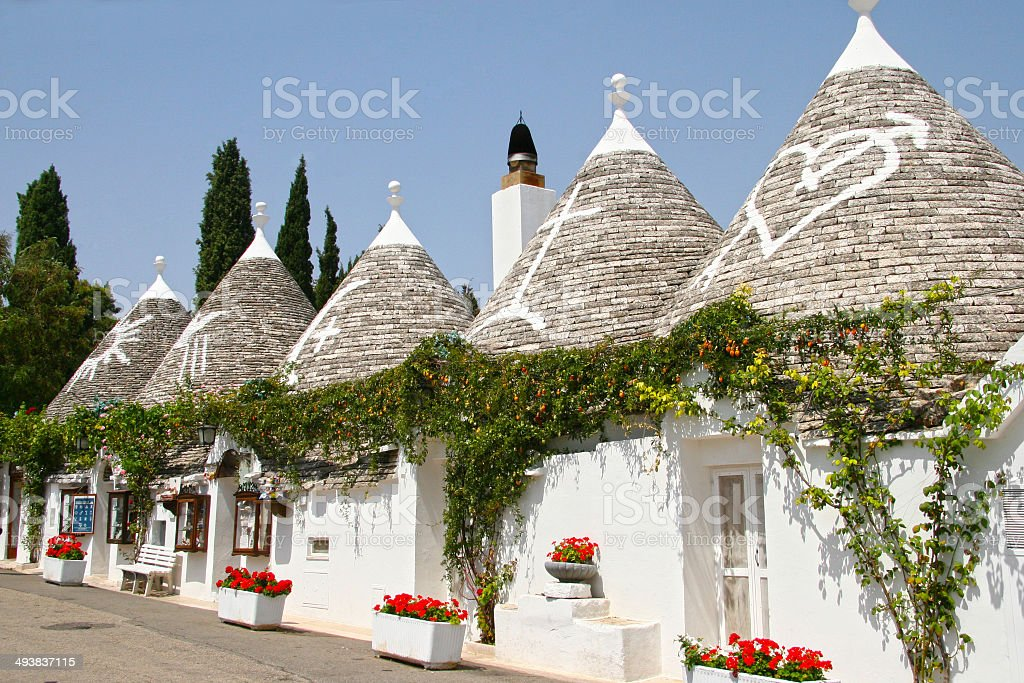 Trulli houses, Alberobello, Puglia, Italy. stock photo