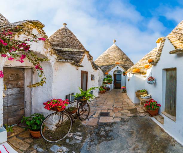 Trulli houses in Alberobello, Italy
