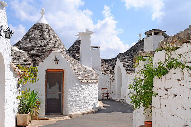 Trulli houses in Alberobello, Italy stock photo