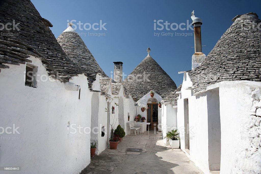 Trulli in Alberobello, Italy. stock photo