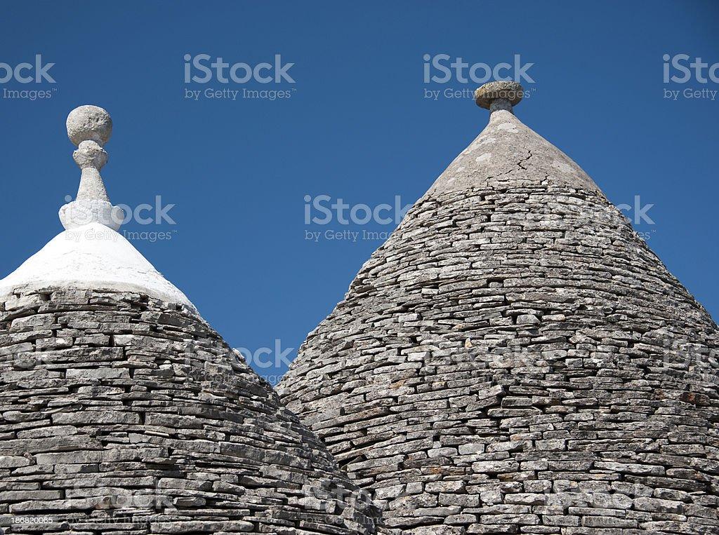 Trulli Roof in Alberobello, Italy. royalty-free stock photo