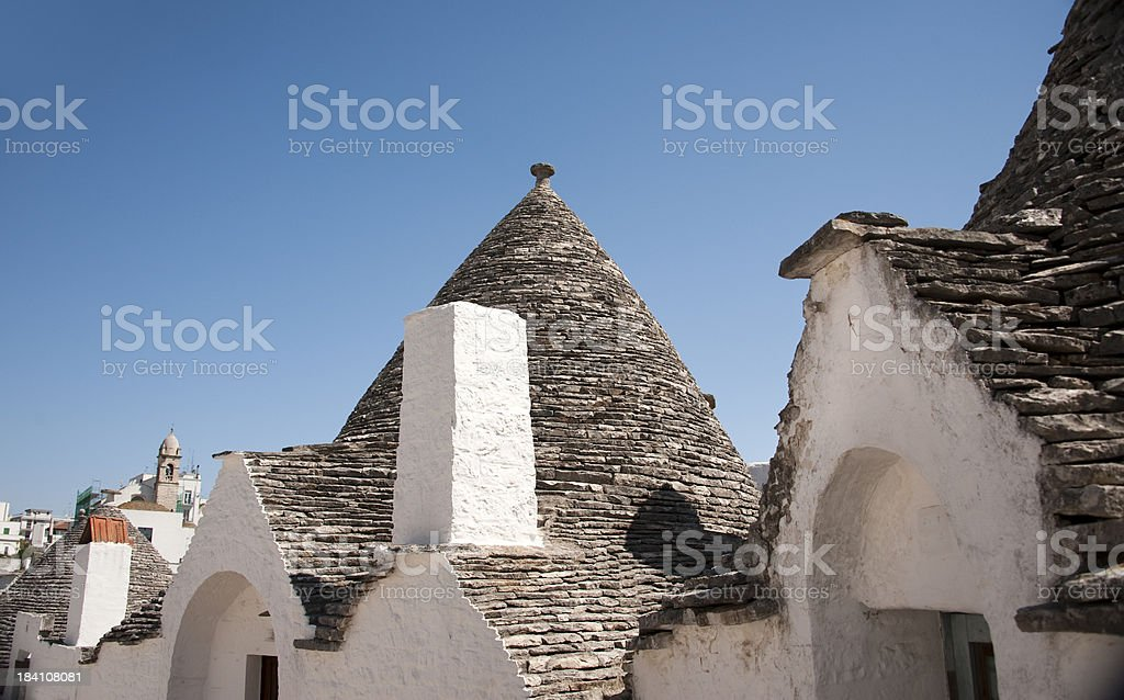 Trulli Roofs in Alberobello, Italy. royalty-free stock photo