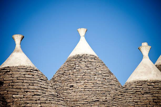 Trulli Roofs stock photo