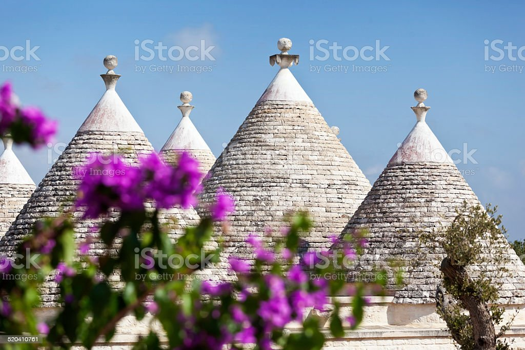 Trullo in Puglia Italy stock photo
