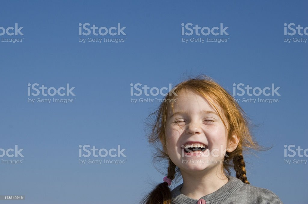 Truly happy red head girl royalty-free stock photo
