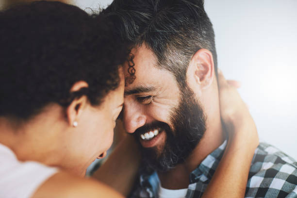Truly, madly, deeply in love stock photo
