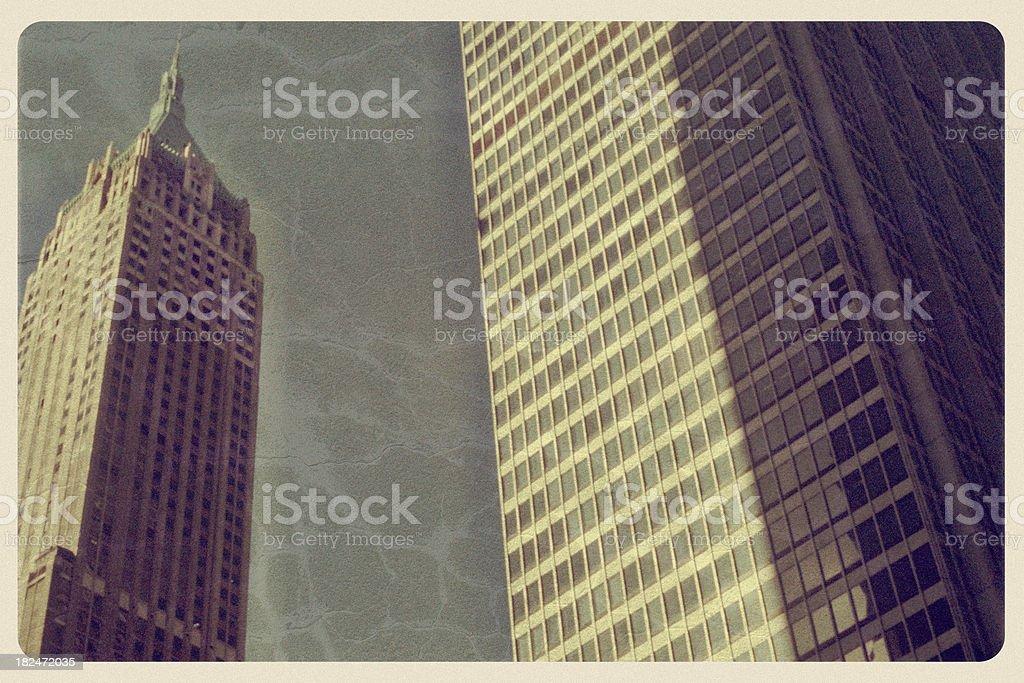 Trump Building at 40 Wall Street - Vintage Postcard stock photo