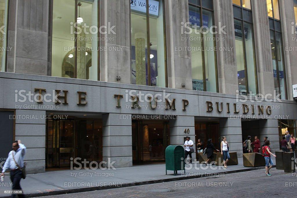 Trump bulding stock photo