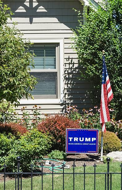 trump for president - donald trump us president стоковые фото и изображения