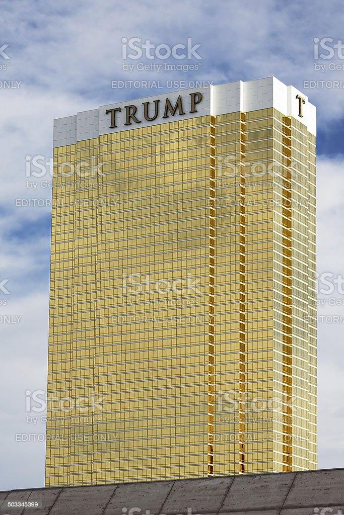 Trump Hotel Las Vegas stock photo