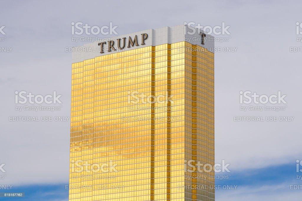 Trump Hotel Las Vegas royalty-free stock photo