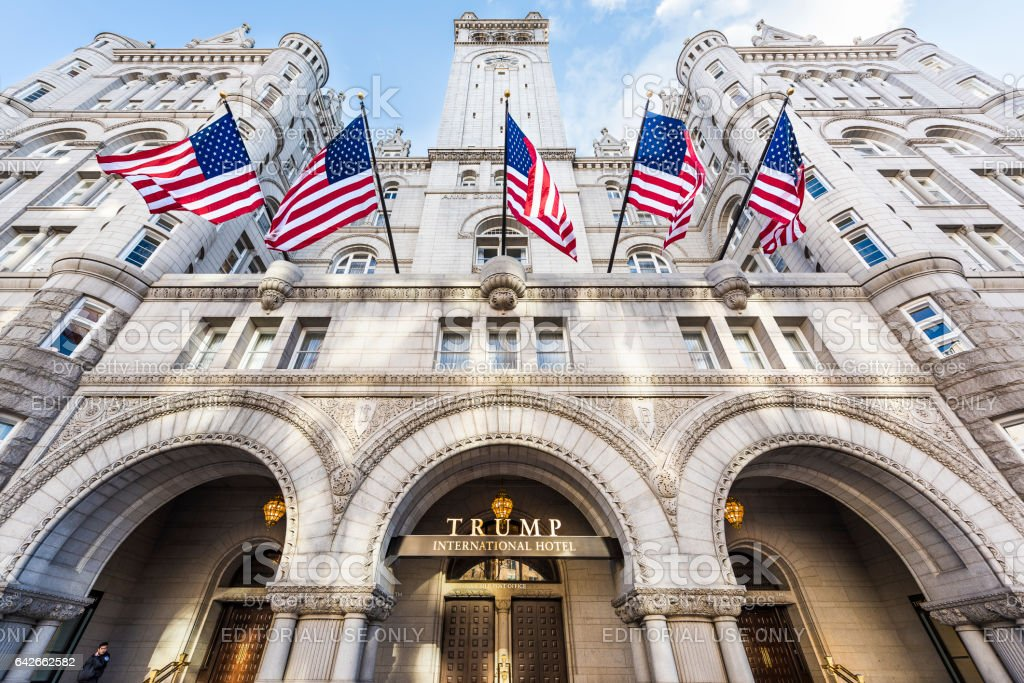 Trump International Hotel and the Old Post Office stock photo