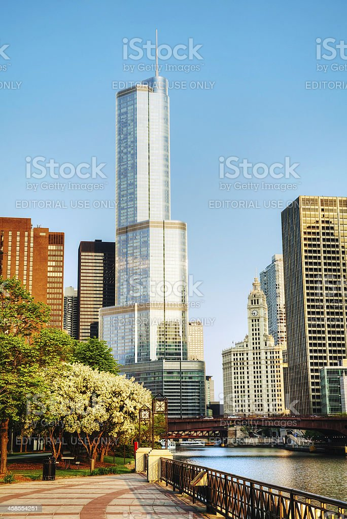 Trump International Hotel and Tower in Chicago, IL royalty-free stock photo