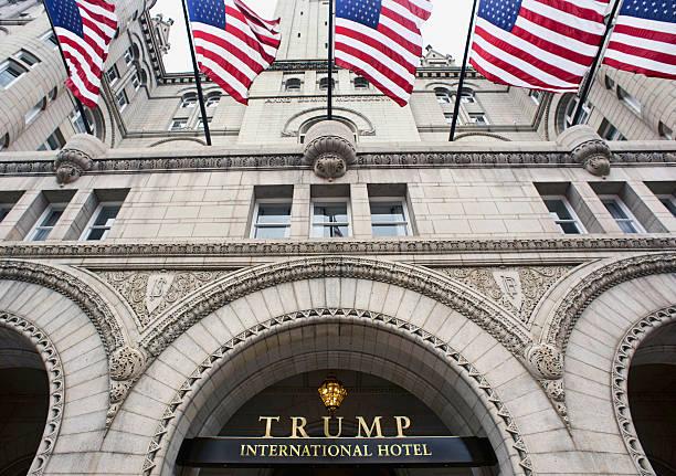 trump international hotel in washington dc. - hotel pennsylvania new york stock-fotos und bilder