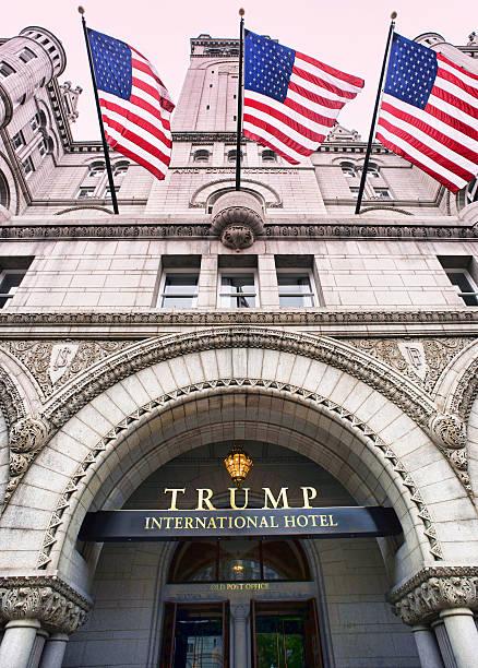 trump international hotel in washington dc. - donald trump us president стоковые фото и изображения