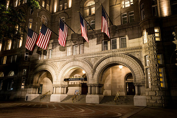 trump international hotel in washington dc - dally stock pictures, royalty-free photos & images