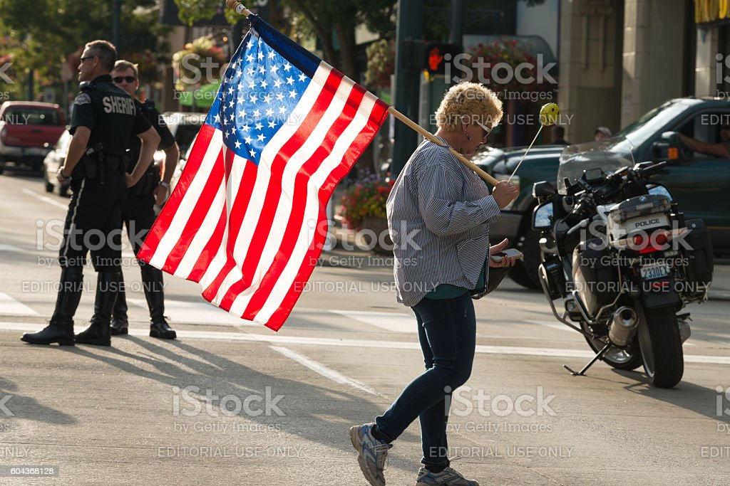Trump Protest stock photo