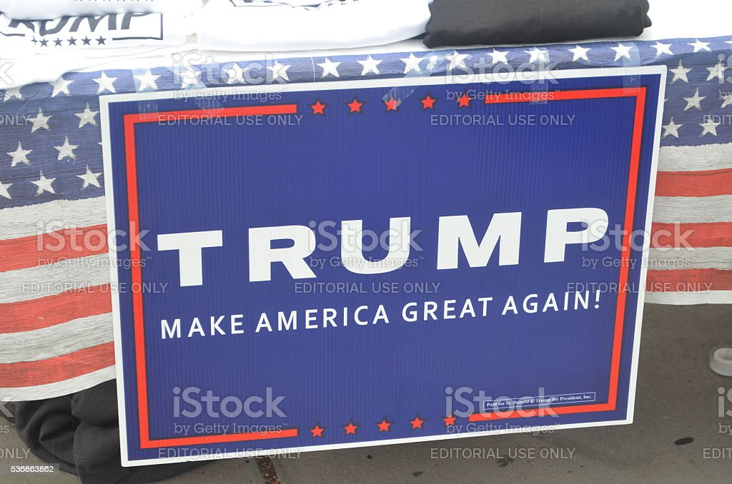 Trump sign stock photo