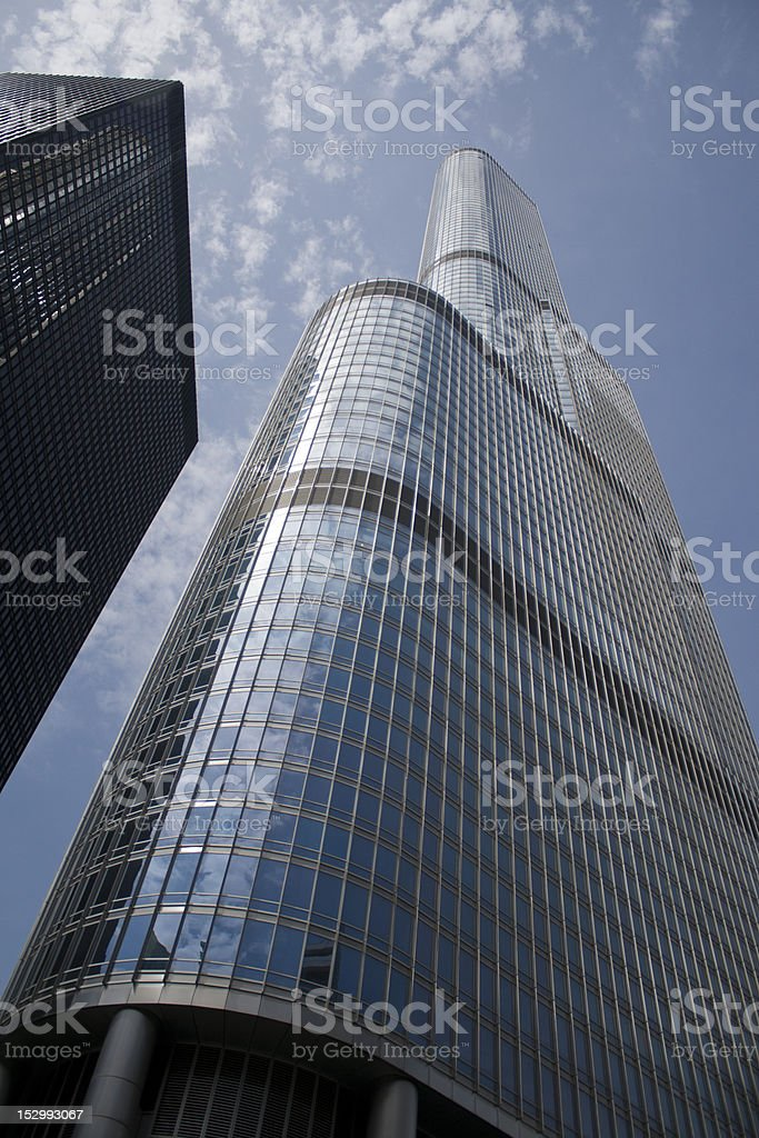Trump Tower, Chicago stock photo