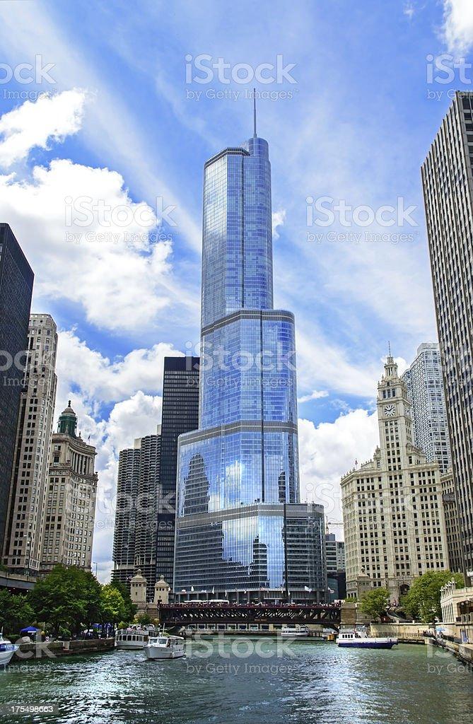 Trump Tower in Chicago Illinois stock photo