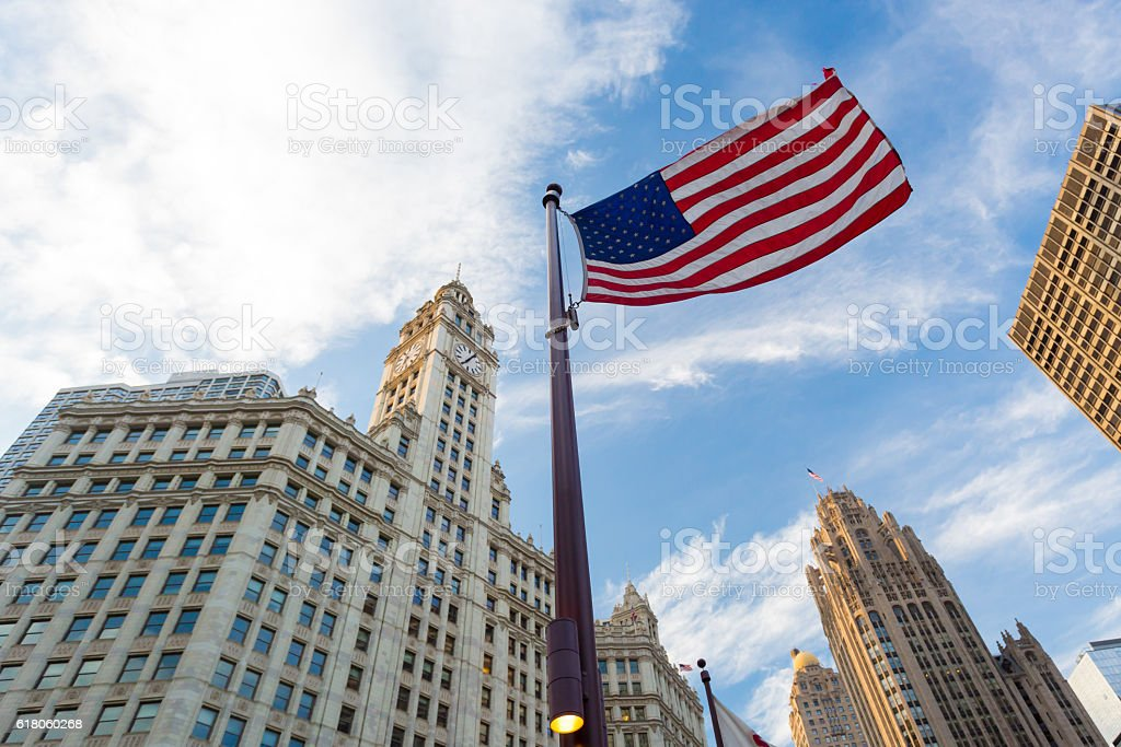 Trump Tower in Chicago stock photo