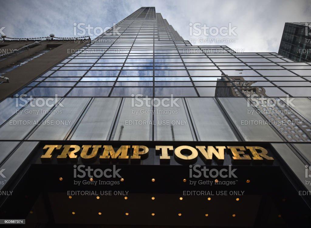 Trump Tower NY stock photo