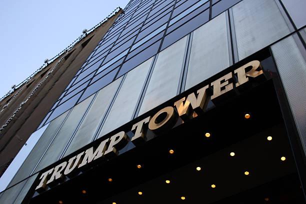 башня трампа - donald trump us president стоковые фото и изображения