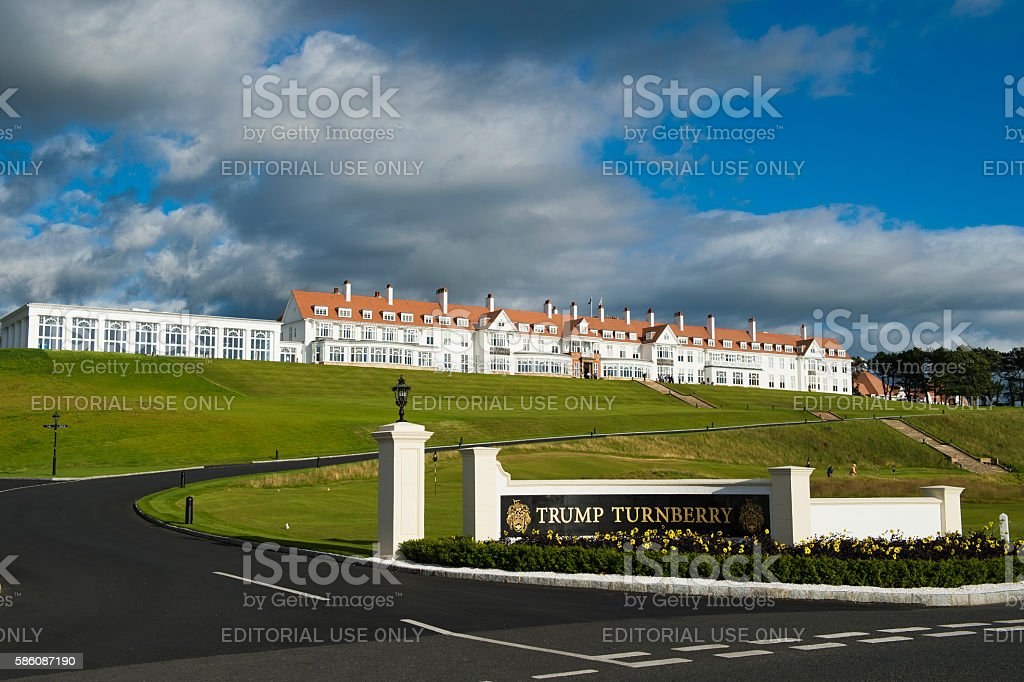 Trump Turnberry luxury resort in west Scotland main entrance stock photo