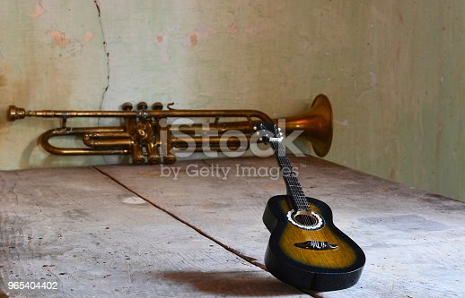 istock A trumpet and a flamenco guitar 965404402