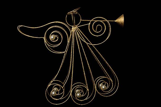 trompete angel - schmuck engel stock-fotos und bilder