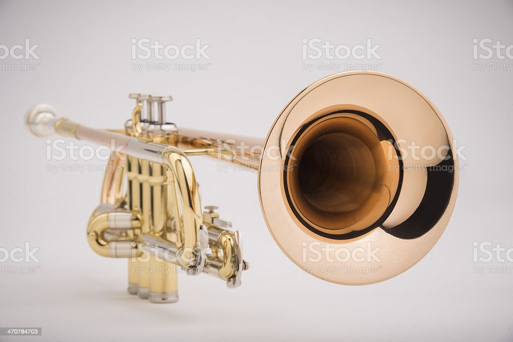 Trumpet, close up stock photo