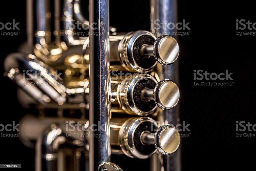 Trumpet closeup stock photo
