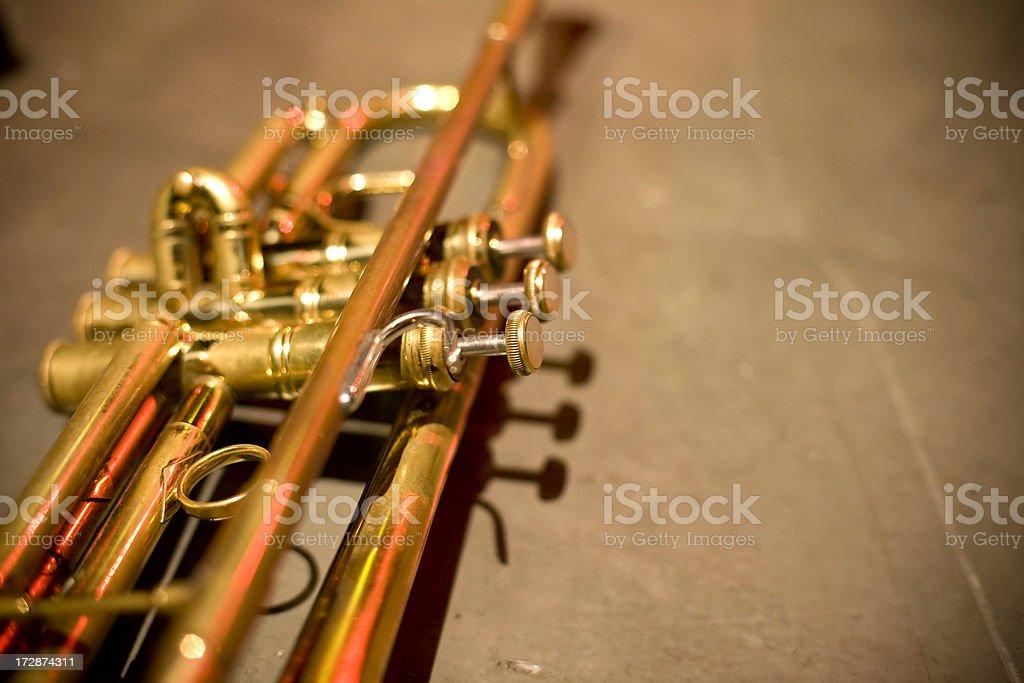 Trumpet detail royalty-free stock photo