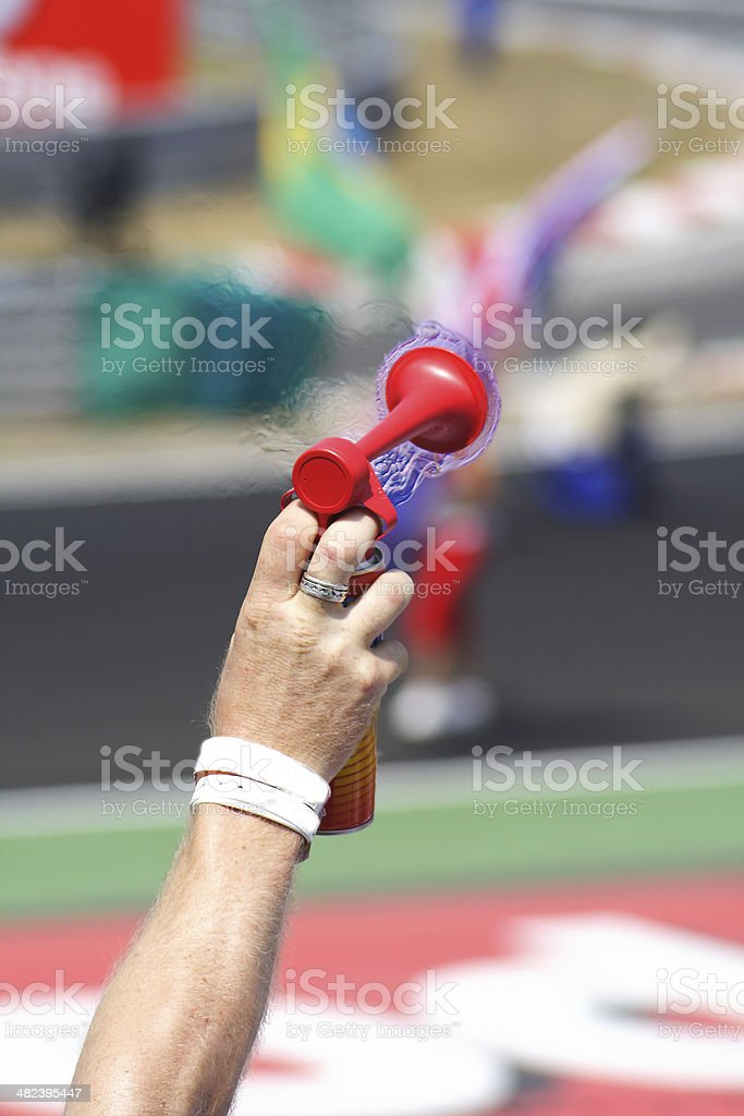 Trumpet Fan stock photo
