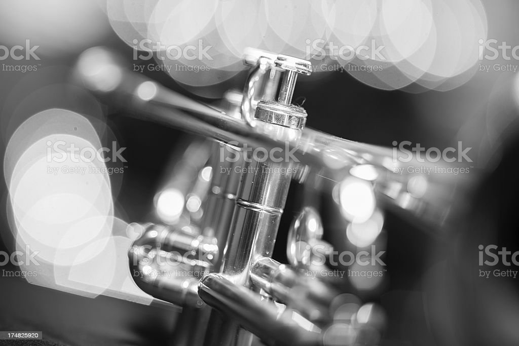 Trumpet in a Jazz club royalty-free stock photo