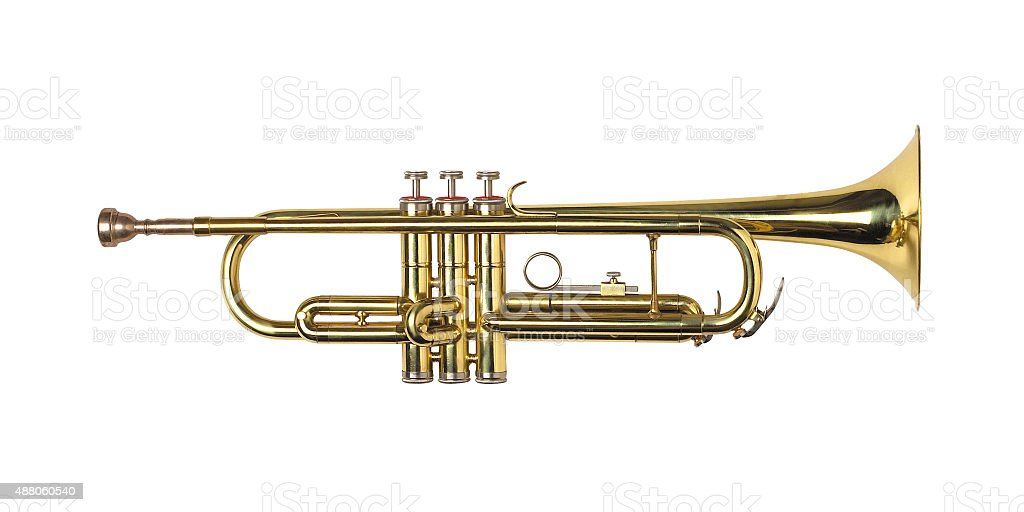 Trumpet isolated stock photo