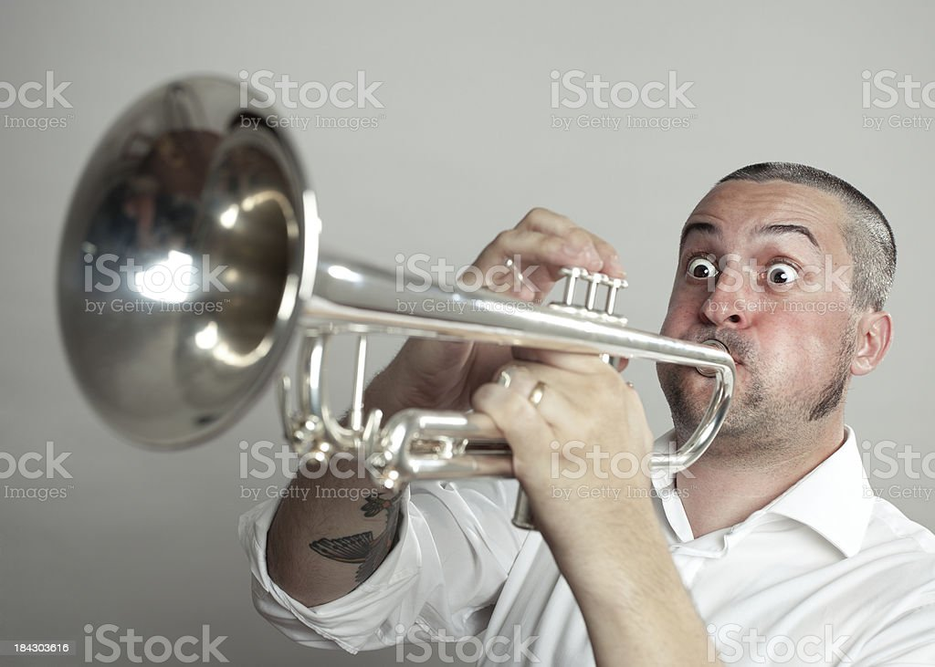 Trumpet man royalty-free stock photo