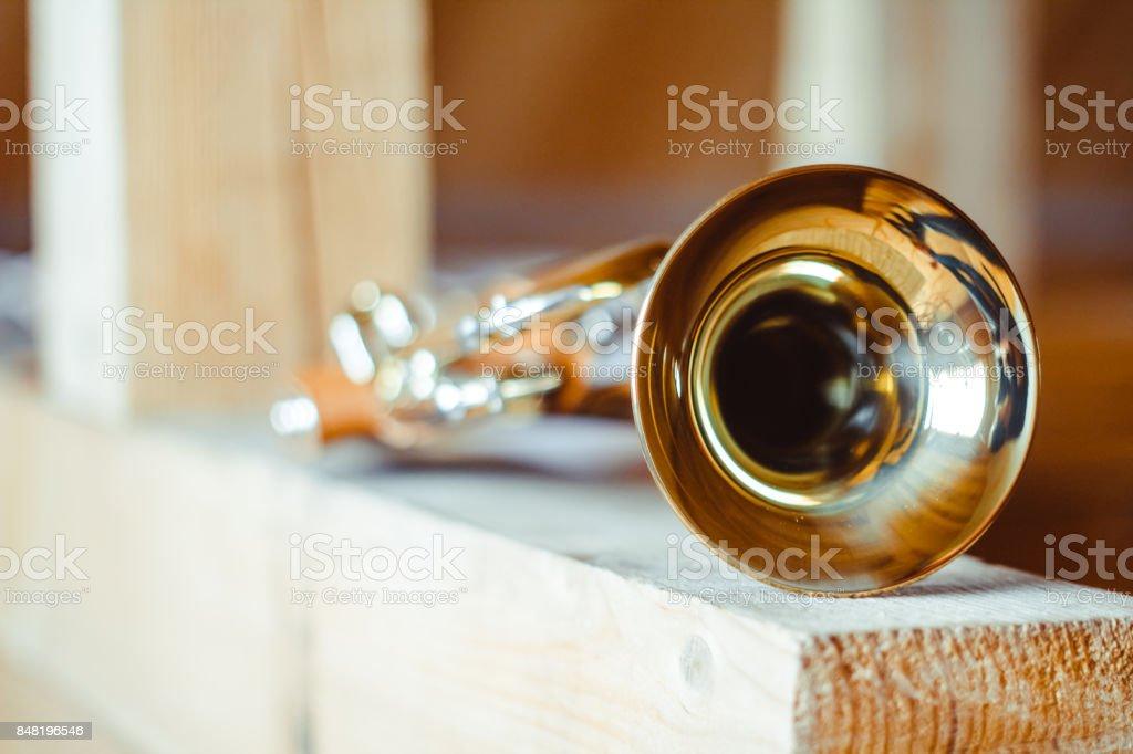 trumpet musical instrument stock photo