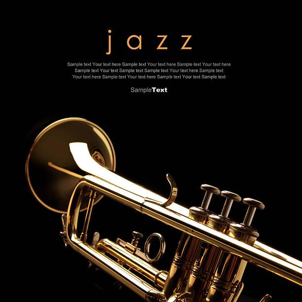 트럼펫 흑색 배경기술 - 트럼펫 뉴스 사진 이미지