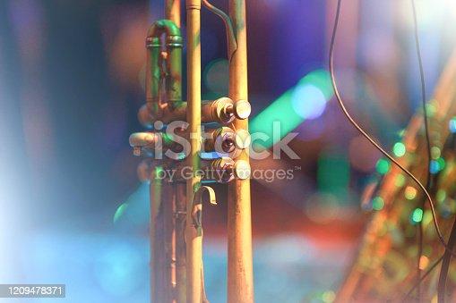 Trumpet on stage